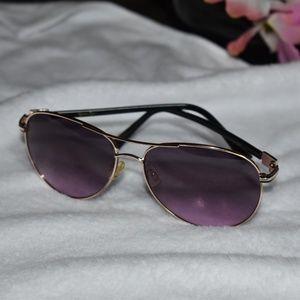 Jessica Simpson Black/Gold/Purp Aviator Sunglasses